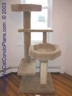 Woodwork cat furniture plans pdf plans for Cat tree blueprints